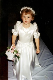 Jess loved being a flower girl at five - 1996