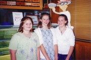 Kelly, Rachel & Jess after band concert 6th Grade