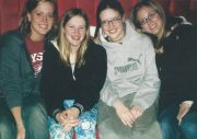 Krista, Jess, Nikki and Bree (future sister-in-law) 2001