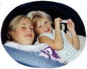 Krista and jessica on hammock (1995)