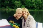 Debbie and Krista on pontoon (1999)