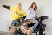 Krista with friend Katie (2001)