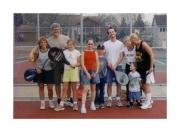 Tennis with Springmans on Krista's BD (2002)