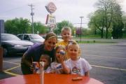 Krista with Knutson kids (2003)