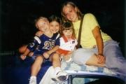 Krista and Caleb, Jordan, and Hannah (2003)