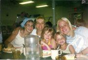 Debbie (mom) with Krista, Nikki, Jess & Jess at Family Camp