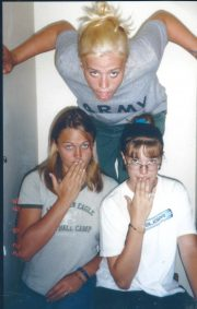 Nikki (13 years), Krista and megan in California on youth group missions trip