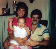 Nikki with Mommy & Daddy on 1st BD (1987)