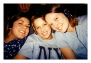Autum, Karly, and Nikki on Missions Trip (2002)