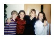 Nikki with church friends (1999)