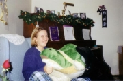 Christmas 2000 (9th grade) Nikki's new turtle