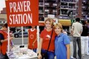 Mom & Nikki at Prayer station on Missions trip to NY City