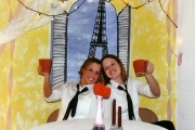 Nikki & Karly at Valentines Dinner (2001)