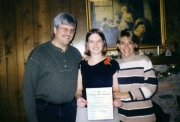Nikki receives Honor Society Award