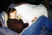 Nikki snuggling with Buddy