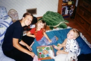 Nikki with her little cousins Hannah and Caleb (2003)