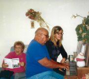 Singing with Papa & Mema (Debbie's parents) on Christmas (2003)