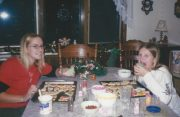 Nikki & Jess making Christmas cookies with Debbie