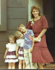 Mom with Joey, Krista & Nikki in 1988