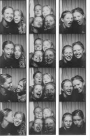 Nikki with Bree, Krista and Jess - September 1, 2003
