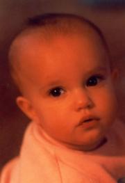 "Nikki - the ""thinker"" 10 months old (1987)"